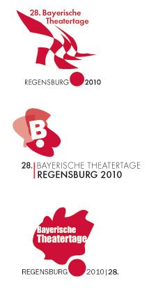Theaterlogo Entwürfe Bayerische Theatertage